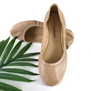 Lucky Brand Emmie Leather Ballet Flat Shoes Size 6